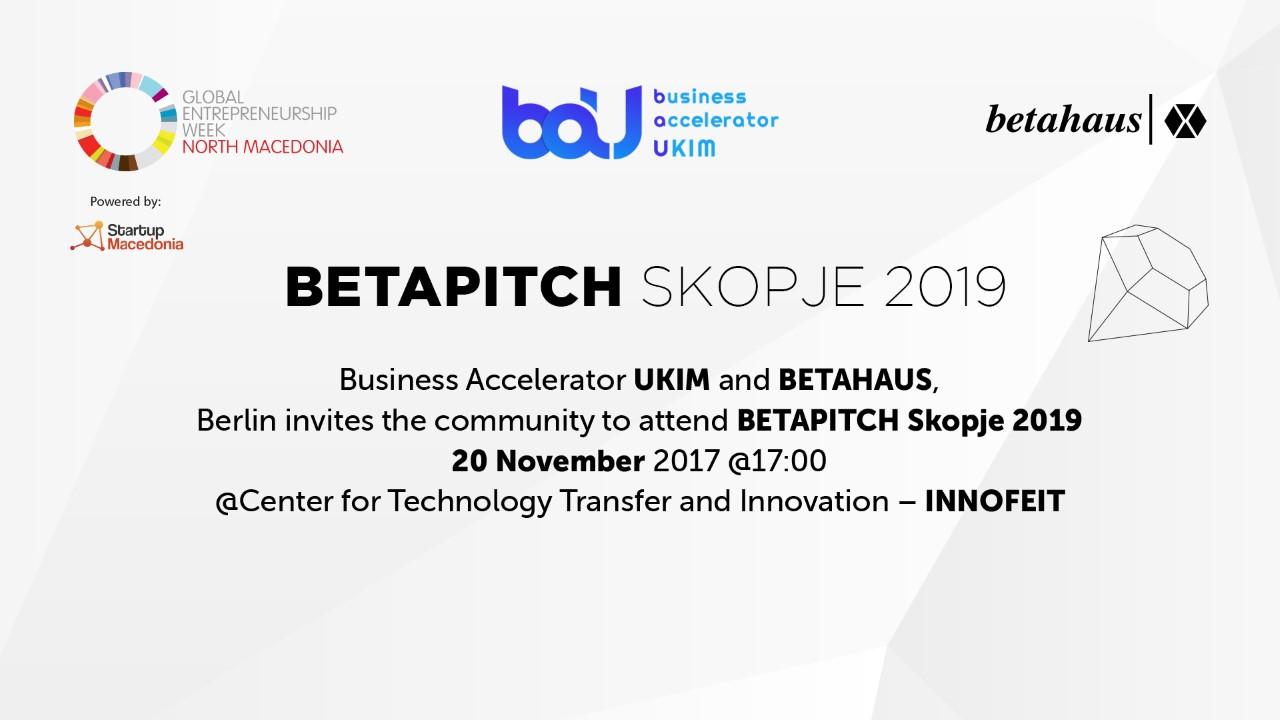Betapitch Skopje 2019