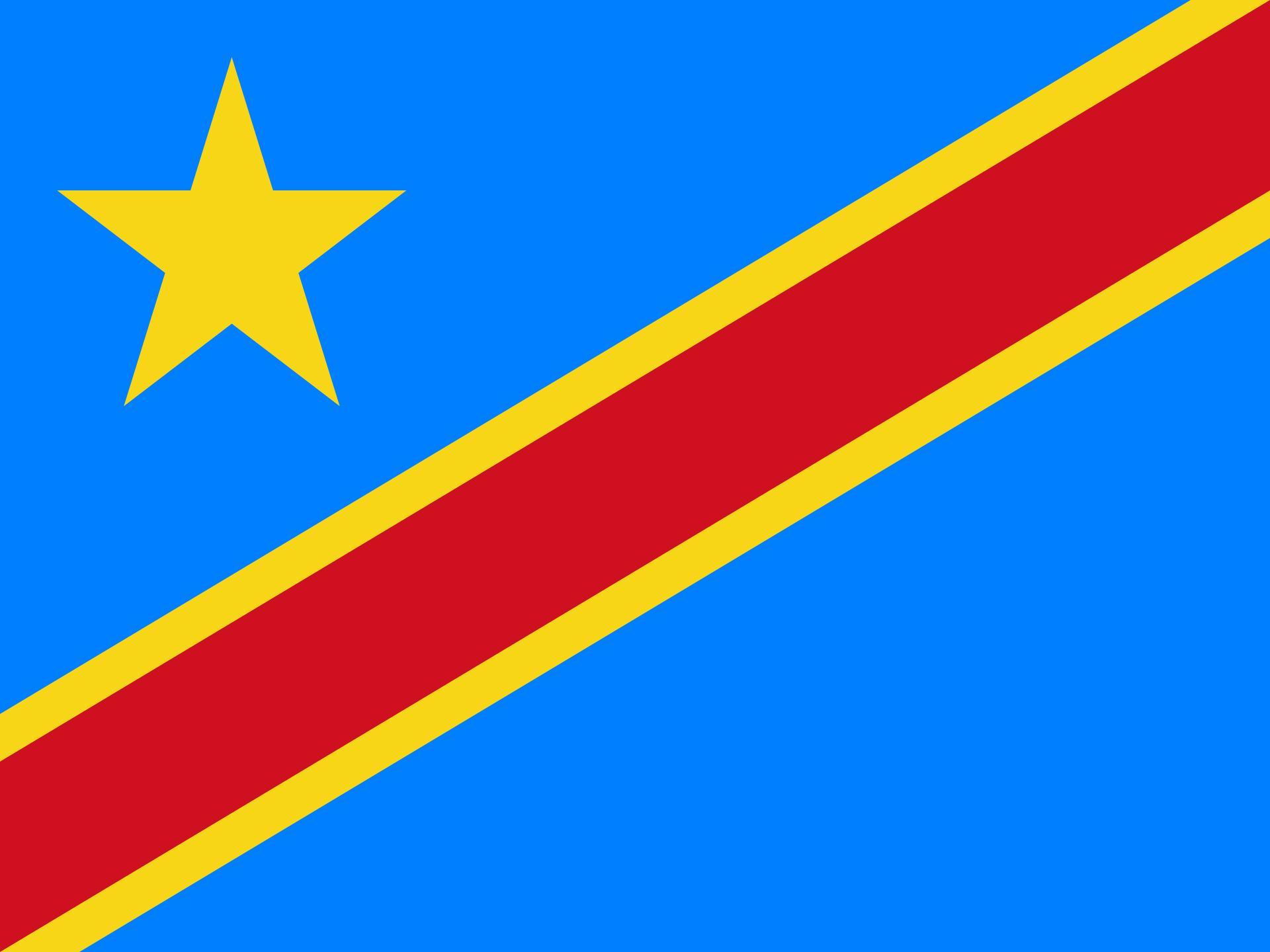 Congo (Kinshasa) Flag
