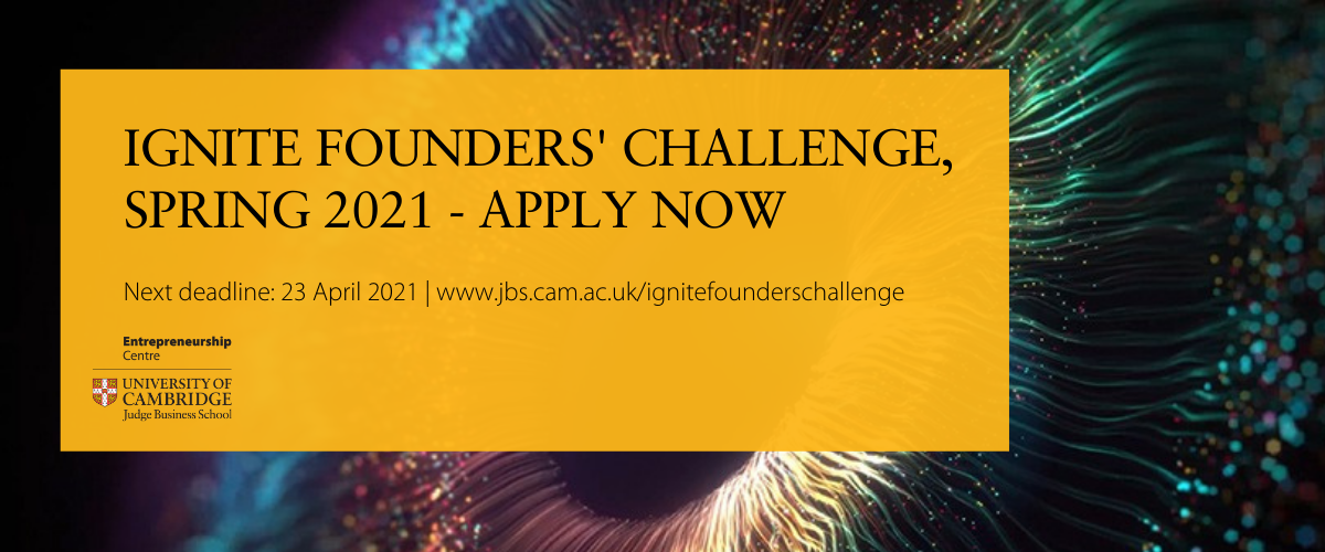 Ignite Founders Challenge for new and early-stage entrepreneurs