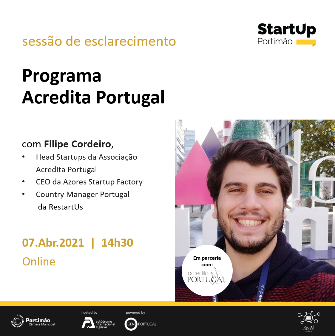 Online Information Session about Acredita Portugal