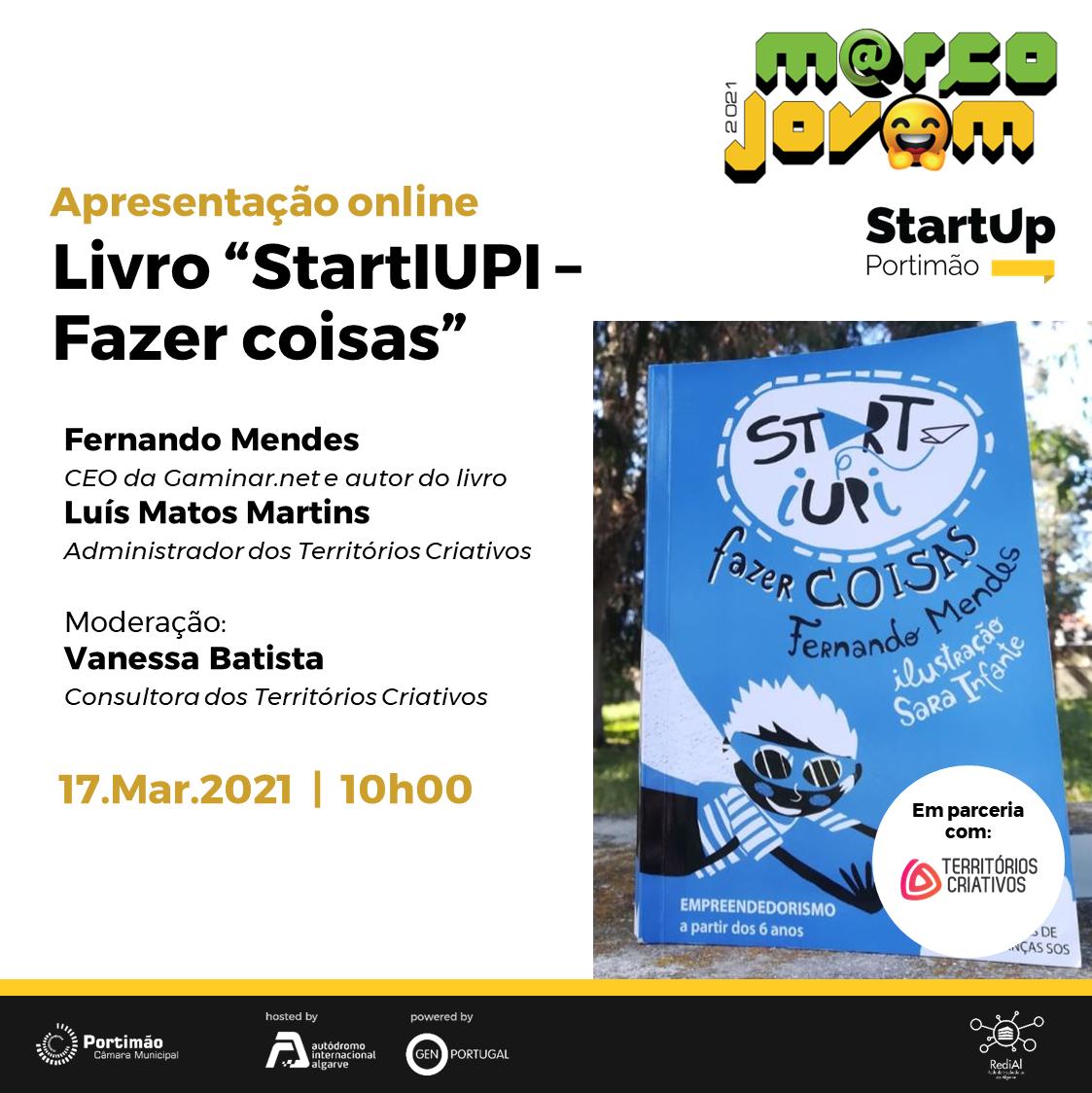 """Book Presentation: """"StartIUPI – Fazer Coisas"""""""