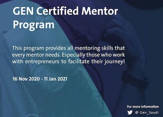 GEN Saudi Certified Mentor Program