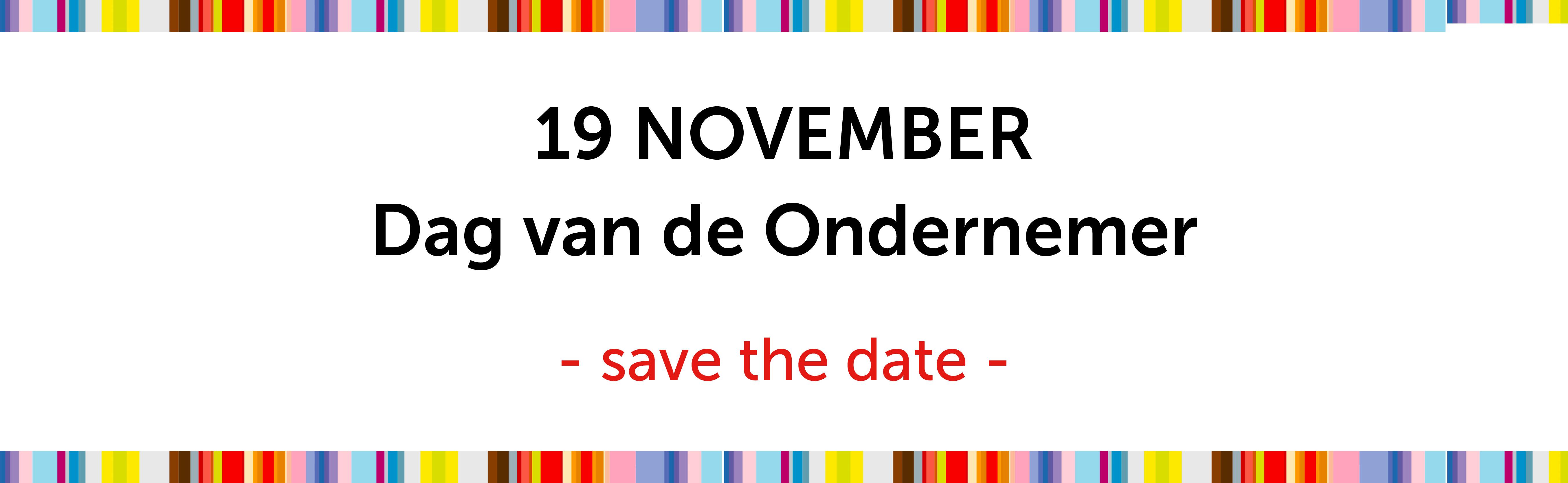 Dag van de Ondernemer België save the date