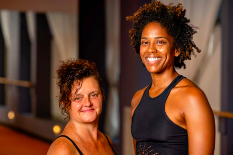 Dionne Presinal and Kerry Donegan, Co-Founders/Co-Presidents of the Bronx Yoga Lab