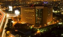 Hyderabad Tech Hub at night