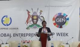 Mary Odongo of Enterprise Uganda (GEW)